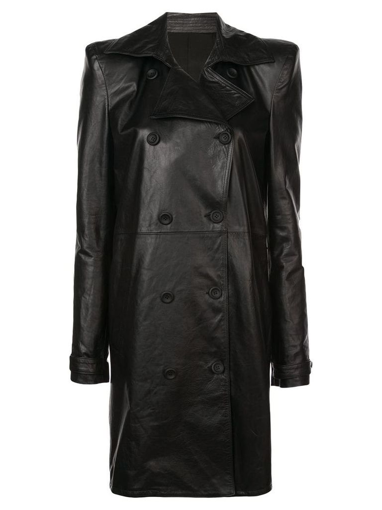 Unravel Project double breasted coat - Black