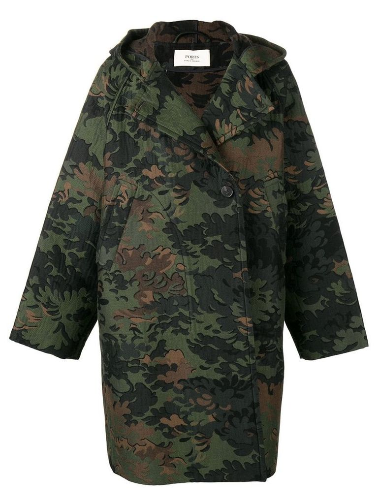 Ports 1961 camouflage print coat - Green