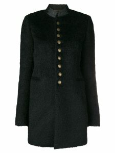 Saint Laurent buttoned military coat - Black