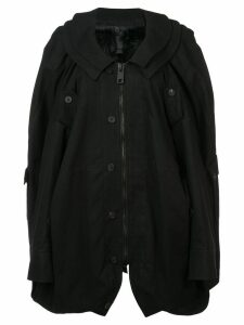 Vera Wang oversized military coat - Black