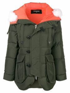 Dsquared2 oversized padded coat - Green
