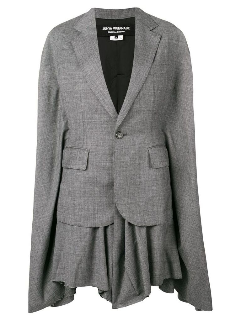 Junya Watanabe oversized poncho coat - Grey