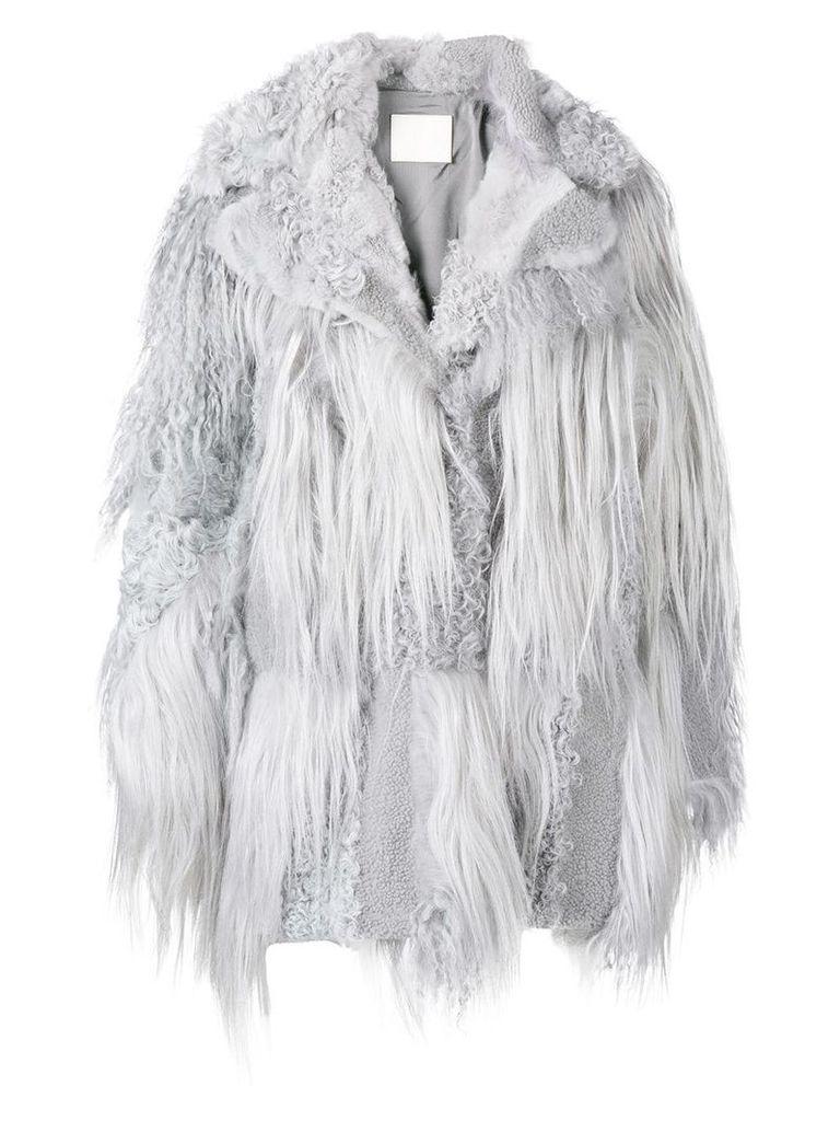Drome oversized fur coat - Grey
