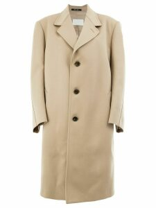 Maison Margiela oversized buttoned coat - Neutrals