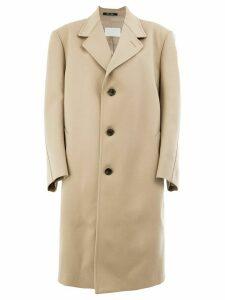 Maison Margiela oversized buttoned coat - NEUTRALS
