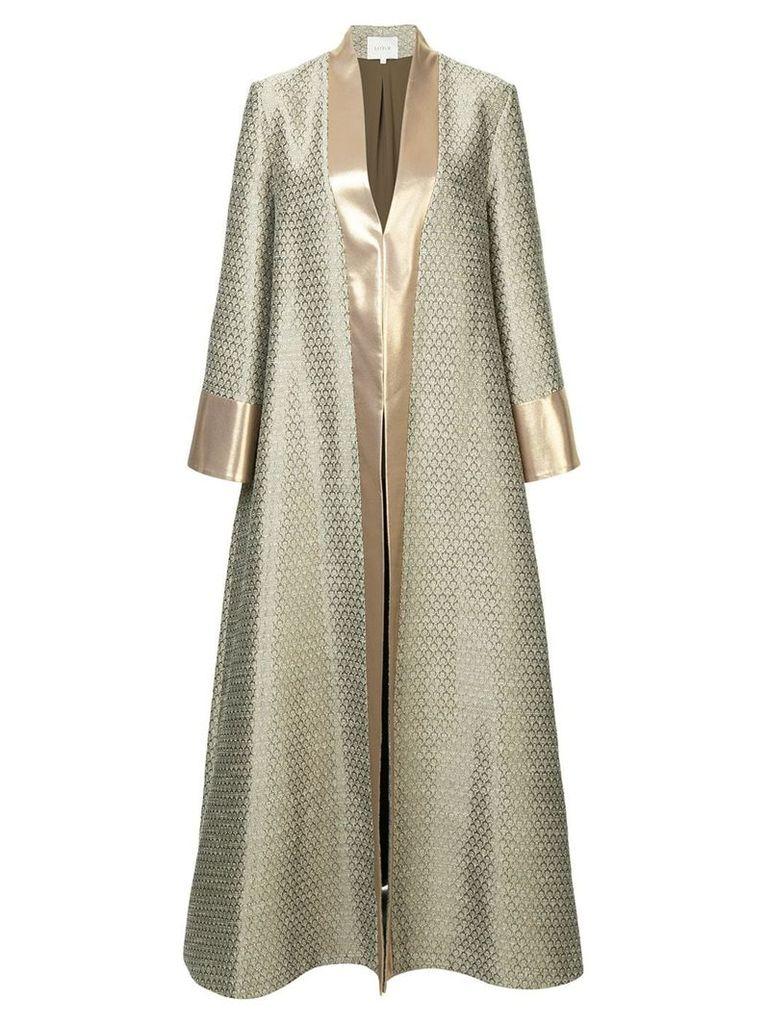 Layeur oversized longline coat - Metallic
