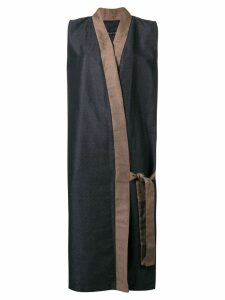 Alchemy long wrap coat - Blue