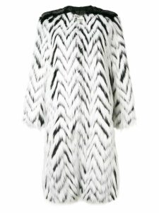 Givenchy faux fur long coat - White