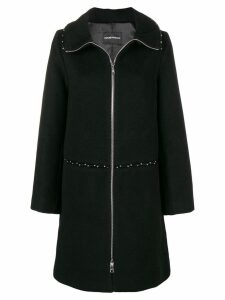 Emporio Armani oversized beaded coat - Black