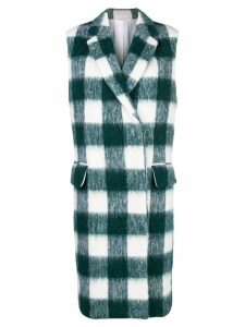 Calvin Klein 205W39nyc checked midi vest coat - Green