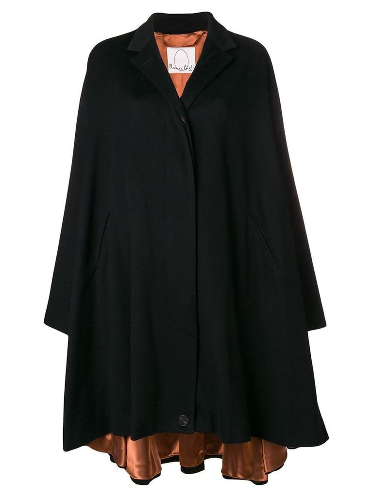 Romeo Gigli X Eggs cashmere oversized coat - Black