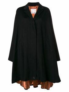 Romeo Gigli X Eggs cashmere oversized coat - Black