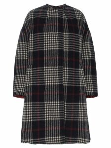 Isabel Marant Harrison Checked Quilted Coat - Blue