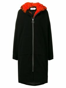Marques'Almeida shearling trim coat - Black