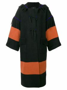 Alanui oversized fringe detail coat - Black