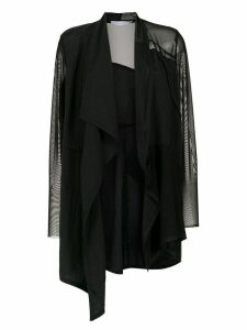 Mara Mac sheer coat - Black