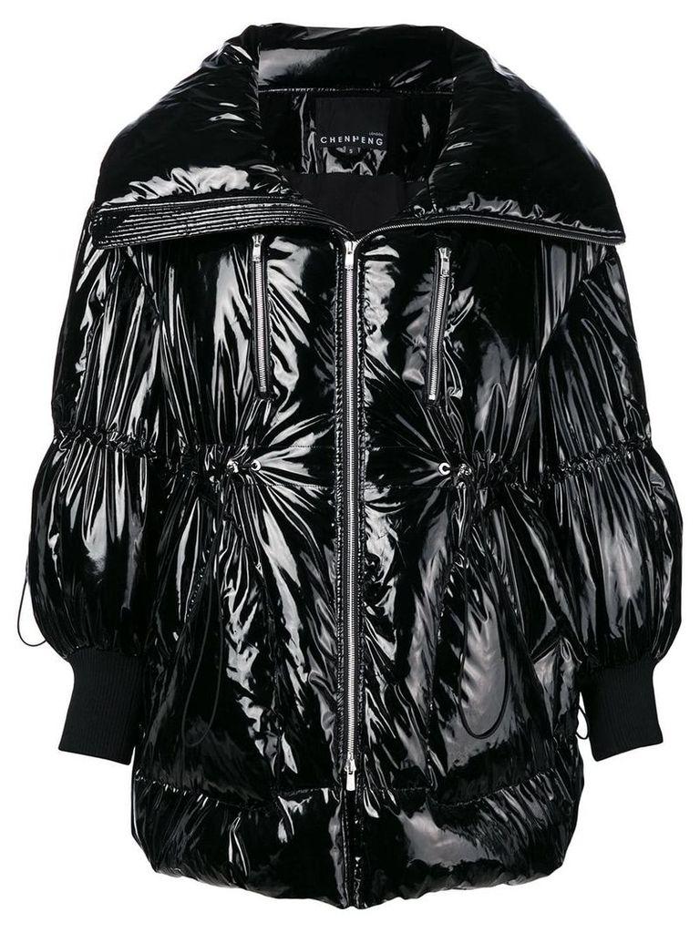 Chen Peng oversized puffer jacket - Black