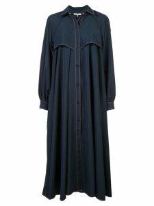 Ganni oversized buttoned coat - Blue