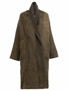 Uma Wang cauliflower oversized coat - Brown