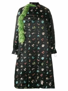 Preen By Thornton Bregazzi Ruth floral printed coat - Black