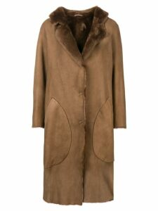 Desa 1972 oversized coat - Brown