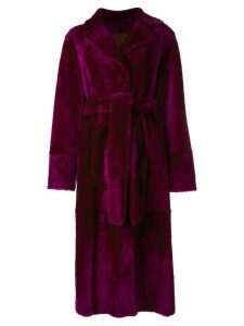 Drome long belted coat - Pink