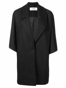 Chalayan oversized button coat - Black