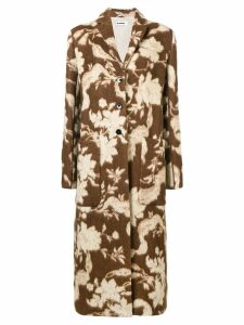 Jil Sander Fullerton floral coat - Brown
