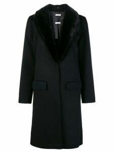 P.A.R.O.S.H. fur trimmed coat - Black