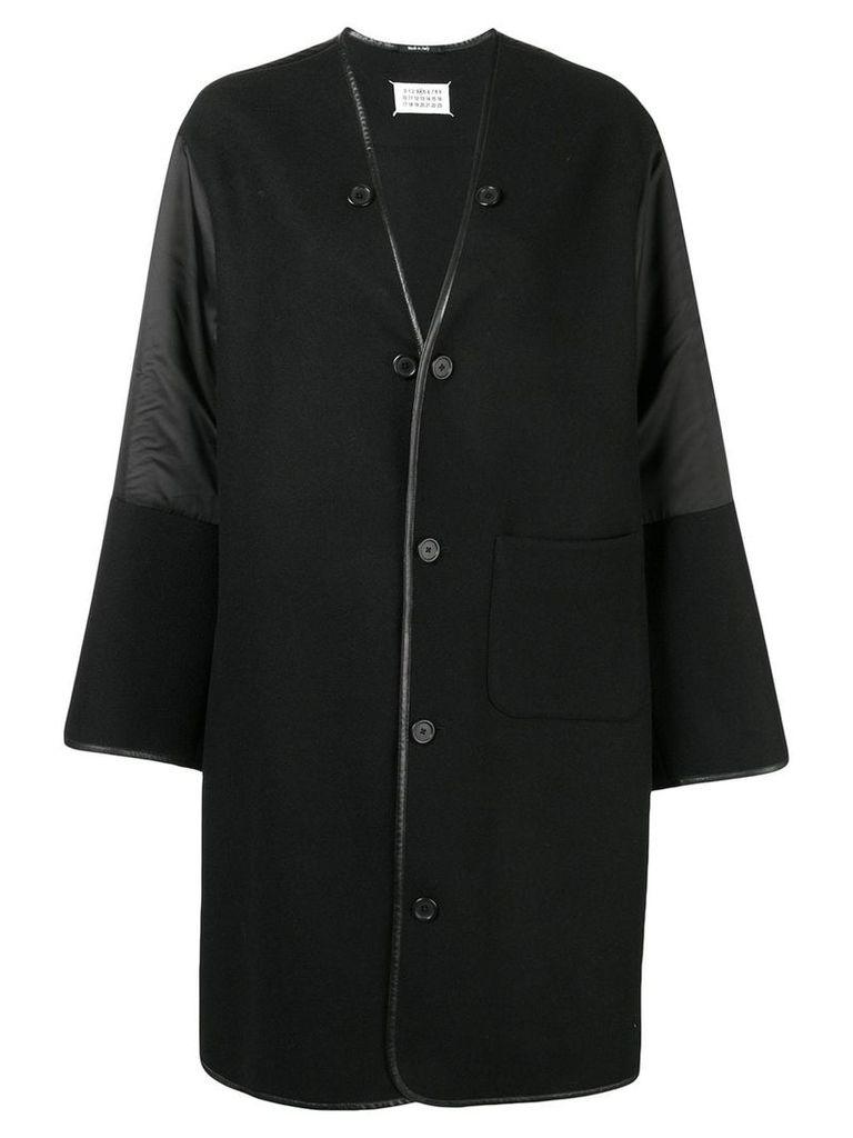Maison Margiela oversized button coat - Black