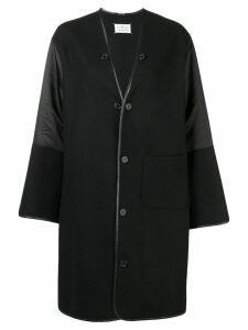 Maison Margiela oversized button coat - Black