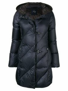Fay toggle quilted coat - Blue