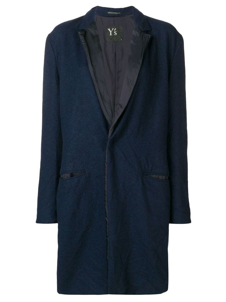 Y's classic single-breasted coat - Blue