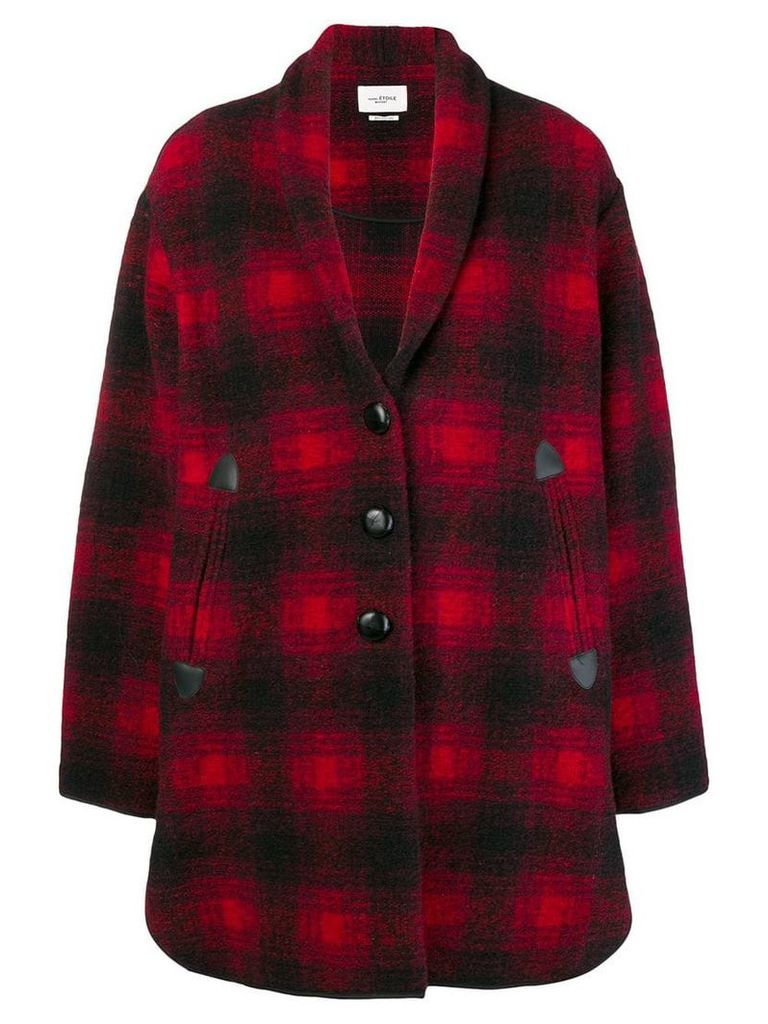 Isabel Marant Étoile plaid single-breasted coat - Red