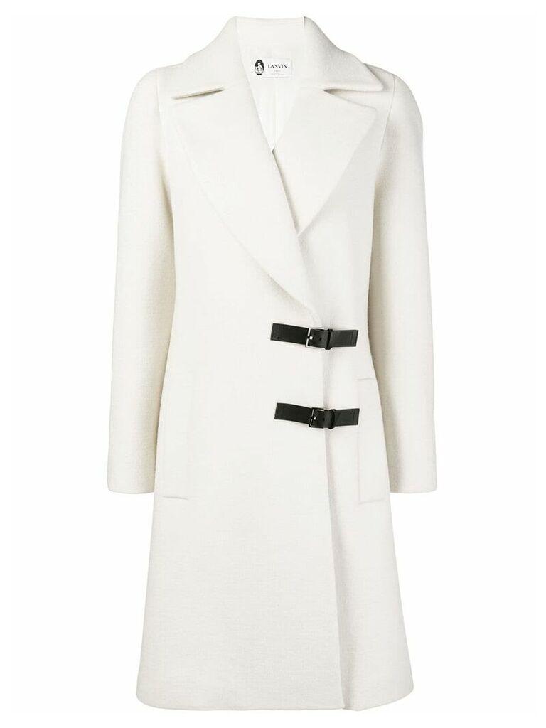 Lanvin buckle detail coat - White