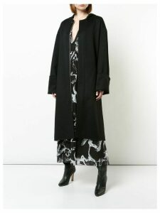 Adam Lippes hooded zipped coat - Black