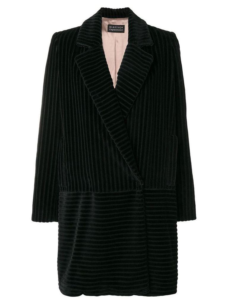 Gianluca Capannolo large cordury blazer coat - Black