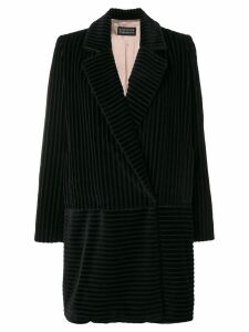 Gianluca Capannolo large cordury blazer coat - Black