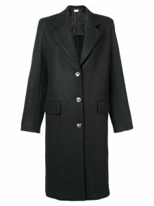 The Row single breasted midi coat - Black