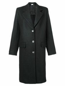 The Row single breasted midi coat - Black