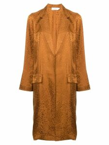 A.L.C. animal print single-breasted coat - Brown