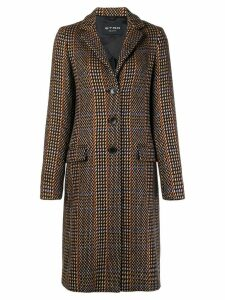 Etro patterned single breasted coat - Brown