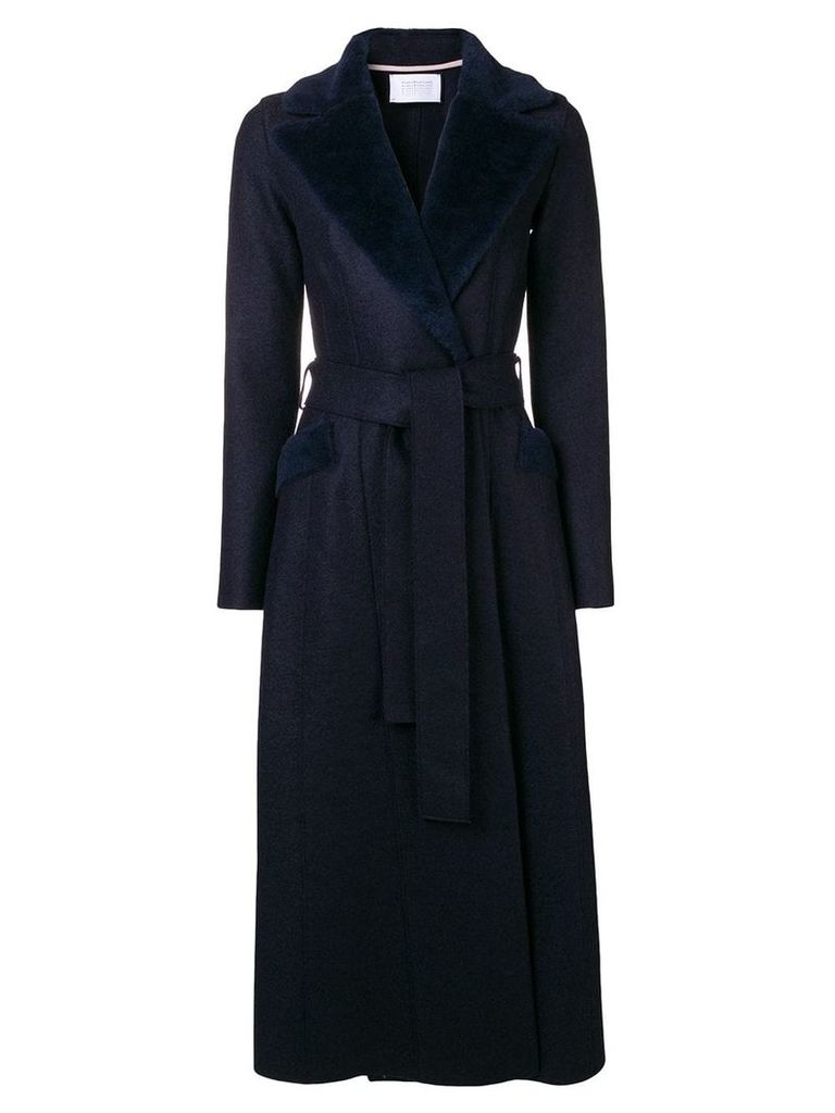Harris Wharf London long belted coat - Blue