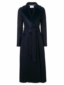 Harris Wharf London long belted coat - Blue
