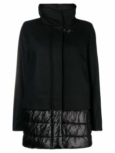 Fay shell-panelled coat - Black