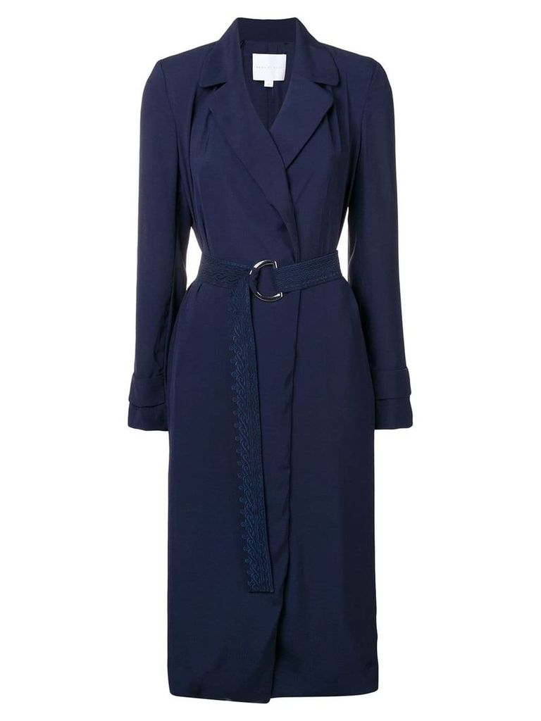 Noon By Noor Toyah belted trench coat - Blue