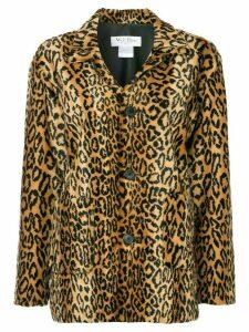We11done leopard faux fur jacket - Brown