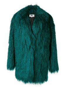 Mm6 Maison Margiela faux-fur midi coat - Green
