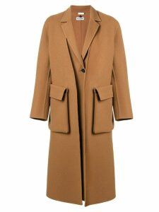 Jil Sander double layer coat - Brown