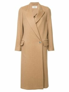 Ports 1961 single breasted coat - Brown
